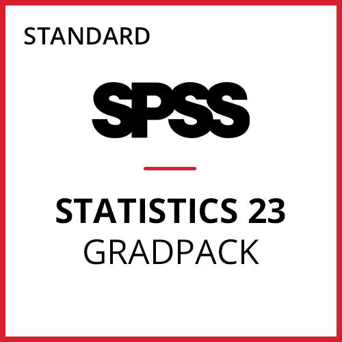 IBM® SPSS® Statistics Standard GradPack 23 for Windows and Mac </br>(12-Mo Rental)