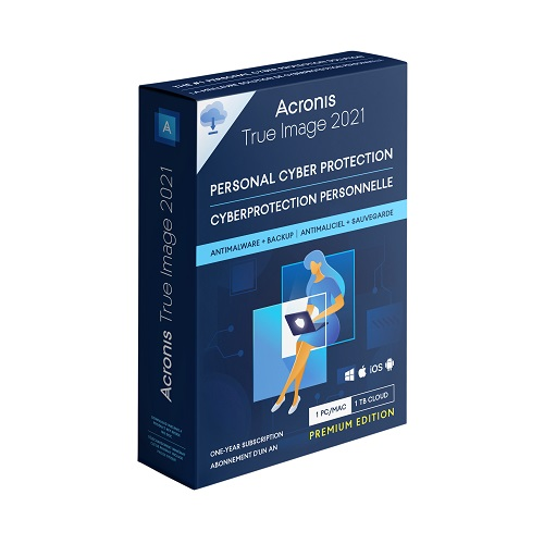 Acronis True Image Premium Cybersecurity 2021</br> 1 Computer + 1 TB Cloud Storage (1-year subscription)
