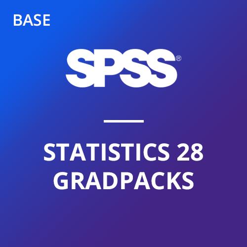 IBM® SPSS® Statistics Base GradPack 28 for Windows and Mac (06-Mo Rental)