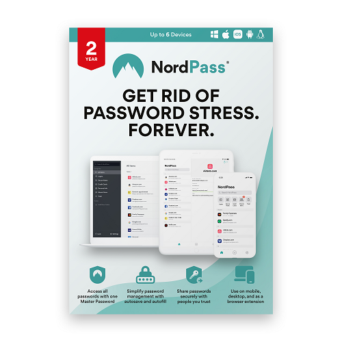 NordPass Password Manager 2-year subscription (Premium)