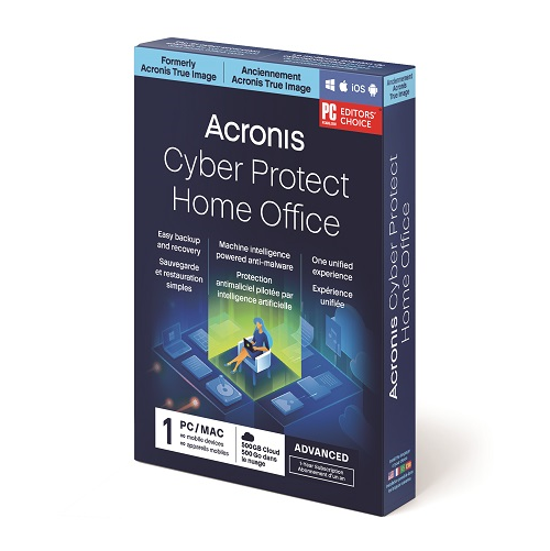 Acronis Cyber Protect Home Office Advanced Subscription -  1 Computer + 500 GB Acronis Cloud Storage