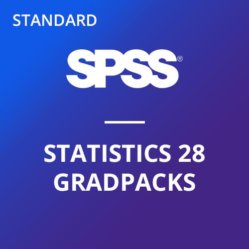 IBM® SPSS® Statistics Standard GradPack 28 for Windows and Mac </br> (12-Mo Rental)