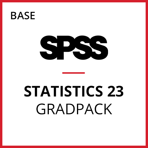 IBM® SPSS® Statistics Base GradPack 23 for Windows (12-Mo Rental)