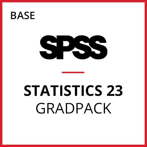 IBM® SPSS® Statistics Base GradPack 23 for Windows and Mac (06-Mo Rental)