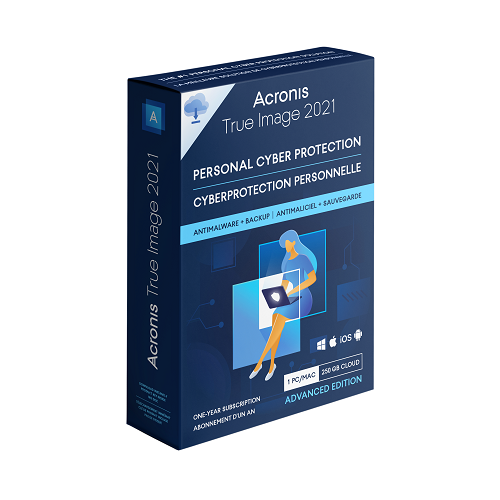 Acronis True Image Advanced Cybersecurity 2021</br> 1 Computer + 250 GB Cloud Storage (1-year subscription)