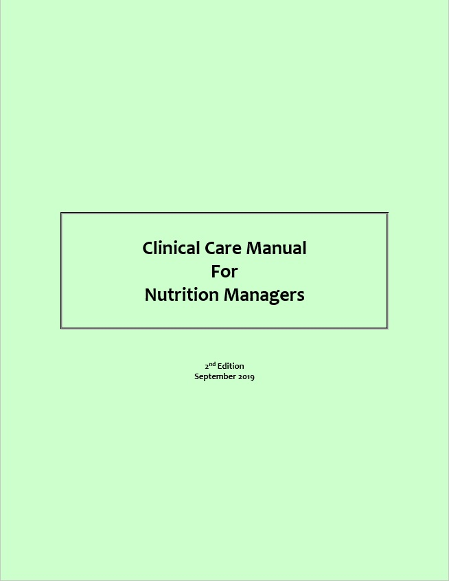 Clinical Care Manual For Nutrition Managers, 2nd Edition - Small product image