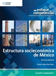 Estructura Socioeconómica de México: Con enfoque en competencias, 3a edición - Imagen del producto pequeña