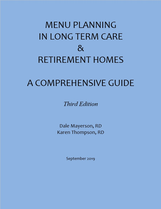 Menu Planning in Long Term Care & Retirement Homes, 3rd Edition (English)