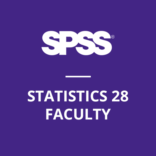 IBM® SPSS® Statistics Faculty Pack 28 for Windows and Mac (12-Mo Rental)