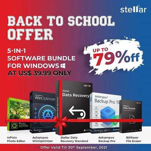 Stellar Back-to-School Bundle Offer for Windows (1 Year License)