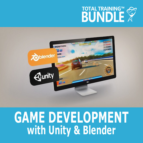 Total Training Game Development with Unity & Blender - Training Bundle (6-Month Subscription)