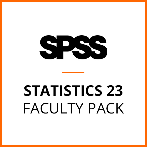 IBM® SPSS® Statistics Faculty Pack 23 for Windows and Mac (12-Mo Rental)