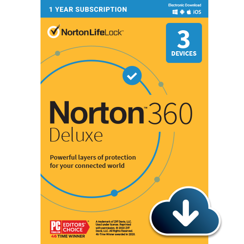Norton 360 Deluxe (1 year, 3 devices)