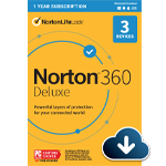Norton 360 Deluxe (1 year, 3 devices) - Petite image de produit